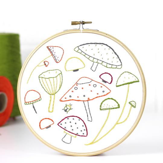Contemporary Botanical Embroidery Kits