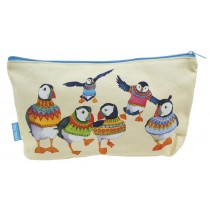Woolly Puffins Zipped Pouch
